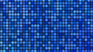 Preview wallpaper pixels, squares, mosaic, blue, gradient