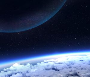 Preview wallpaper planet, atmosphere, glow, space, stars
