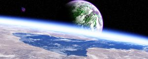 Preview wallpaper planet, atmosphere, surface, space, outer space