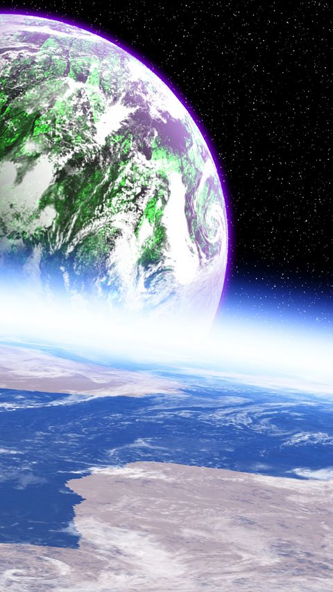 480x854 Wallpaper planet, atmosphere, surface, space, outer space