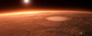 Preview wallpaper planet, craters, space, light