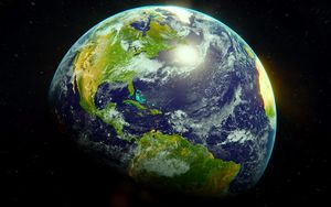 Preview wallpaper planet, earth, surface, atmosphere, space