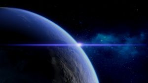 Preview wallpaper planet, flash, atmosphere, space, universe