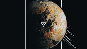 Preview wallpaper planet, frame, lines, triangle, geometry