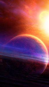 Preview wallpaper planet, haze, light, nebula