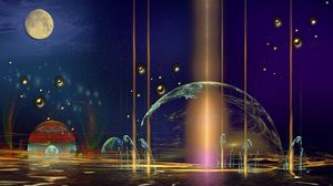 Preview wallpaper planet, imagination, background