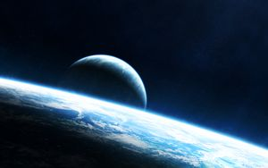 Preview wallpaper planet, light, glow, atmosphere, space