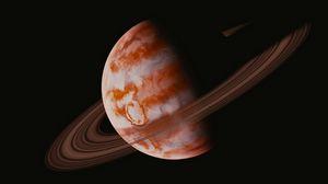 Preview wallpaper planet, orbit, space, black