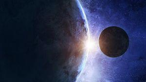 Preview wallpaper planet, satellite, space, universe, galaxy, planets
