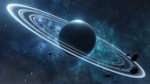 Preview wallpaper planet, satellite, space, universe
