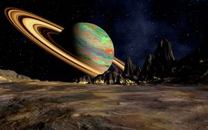Preview wallpaper planet, saturn, space, ring