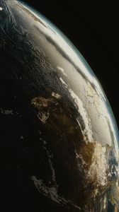 Preview wallpaper planet, space, atmosphere, universe, galaxy, open space, surface