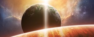 Preview wallpaper planet, space, flare