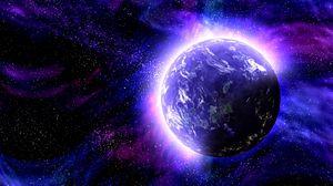 Preview wallpaper planet, space, photoshop, glow