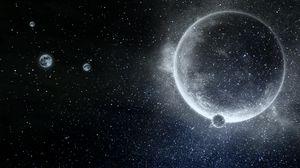 Preview wallpaper planet, stars, galaxy