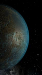 Preview wallpaper planet, surface, atmosphere, space, stars
