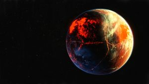 Preview wallpaper planet, surface, atmosphere, space, outer space