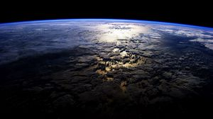 Preview wallpaper planet, surface, space, dark, island