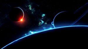 Preview wallpaper planet, universe, galaxy, stars, flash