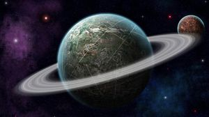 Preview wallpaper planet, universe, orbit, space, stars