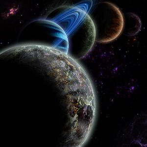 Preview wallpaper planets, galaxy, stars, space, universe