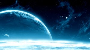 Preview wallpaper planets, space, open space, stars, galaxy, shine