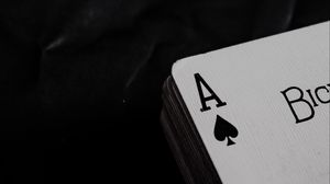 Preview wallpaper playing cards, cards, deck, black