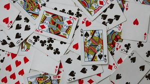 Preview wallpaper playing cards, cards, pattern