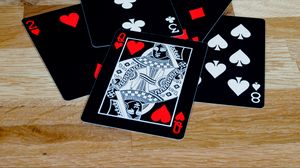 Preview wallpaper playing cards, cards, queen, black