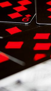 Preview wallpaper playing cards, game, gaming, red, black