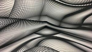 Preview wallpaper plexus, monochrome, lines, wavy, shapes