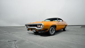 Preview wallpaper plymouth, road runner, 1971, front view