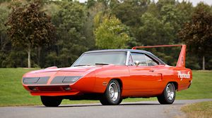 Preview wallpaper plymouth, road runner, superbird, muscle car, red
