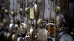Preview wallpaper pocket watch, vintage, collection