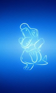Preview wallpaper pokemon, background, blue, totodile