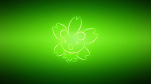 Preview wallpaper pokemon, cherrim, green