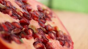 Preview wallpaper pomegranate, fruit, berries, close-up