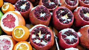 Preview wallpaper pomegranate, grapefruit, oranges, fruit