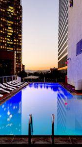 Preview wallpaper pool, skyscraper, hotel, luxury, los angeles, california