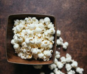 Preview wallpaper popcorn, bowl, snack