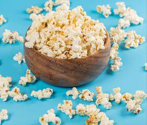 Preview wallpaper popcorn, snack, bowl