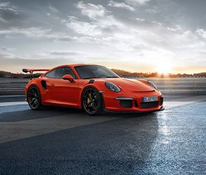 Preview wallpaper porsche, 911, gt3rs, side view, red