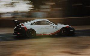 Preview wallpaper porsche 911, porsche, sportscar, racing, speed, movement