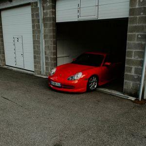 Preview wallpaper porsche, car, red, garage