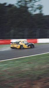 Preview wallpaper porsche cayman gt4, porsche, sports car, racing, speed