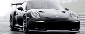 Preview wallpaper porsche, sports car, supercar, black, racing