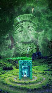 Preview wallpaper portal, totem, imagination, fantasy, photoshop