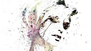 Preview wallpaper portrait, girl, spray, paint