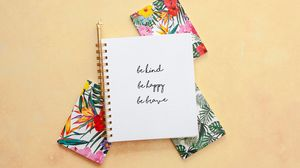 Preview wallpaper positive, advice, motivation, words, notepad