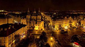 Preview wallpaper prague, czech republic, city, night